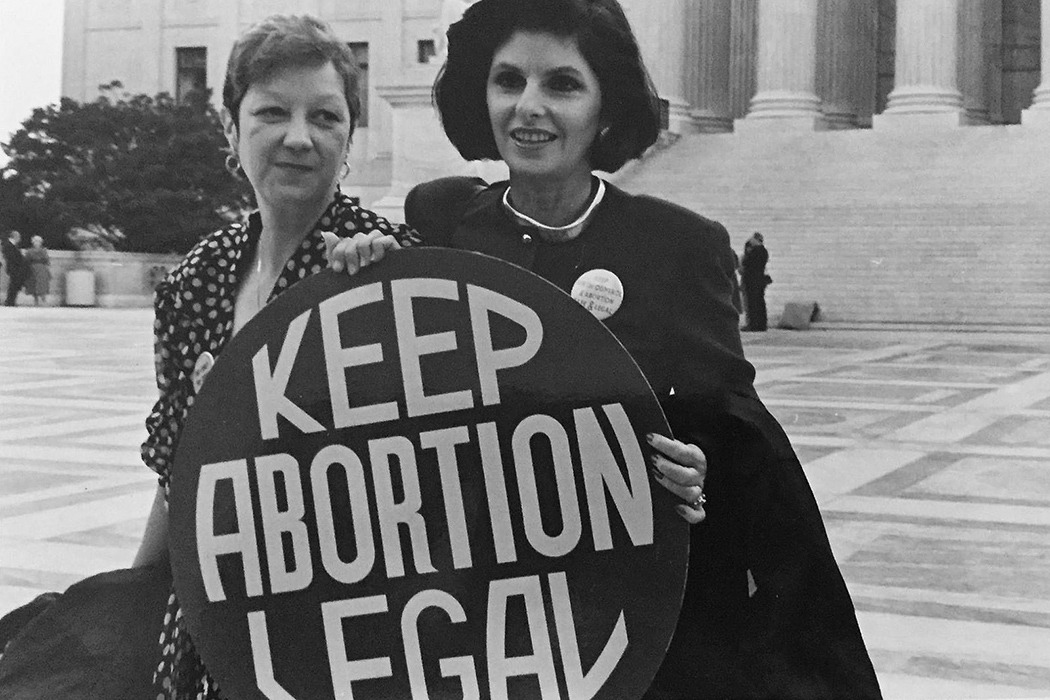 Norma McCorvey (Jane Roe) and Gloria Allred
