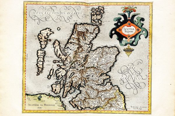 1596 Mercator map of Scotland