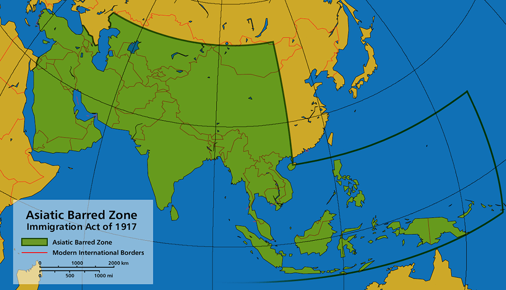 Asiatic Barred Zone of 1917