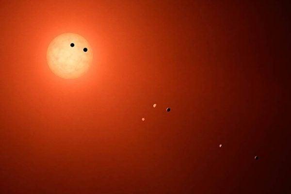 TRAPPIST-1 planet illustration