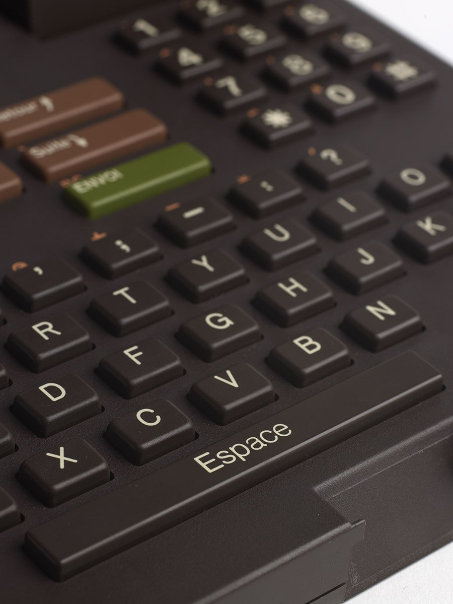 detail of the keyboard of the Minitel 1