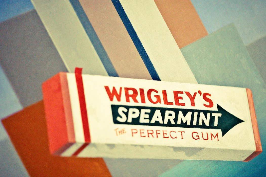Wrigley's gum painting
