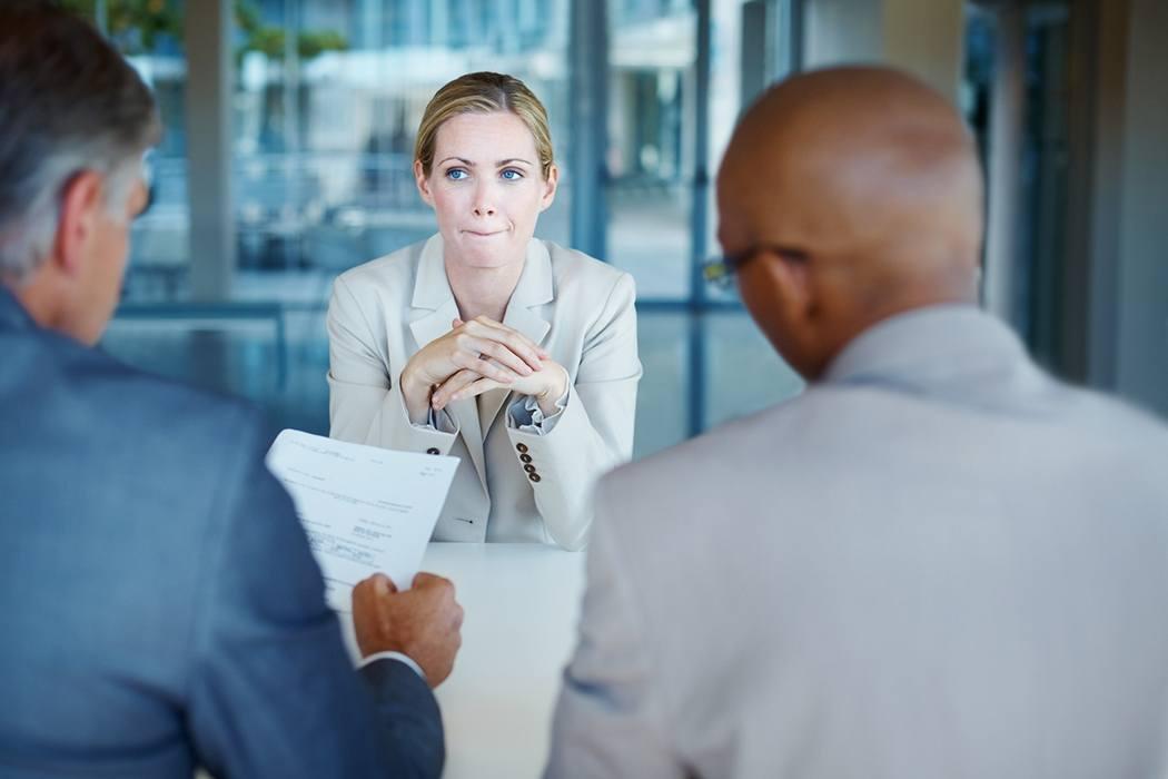 Businesswoman interview