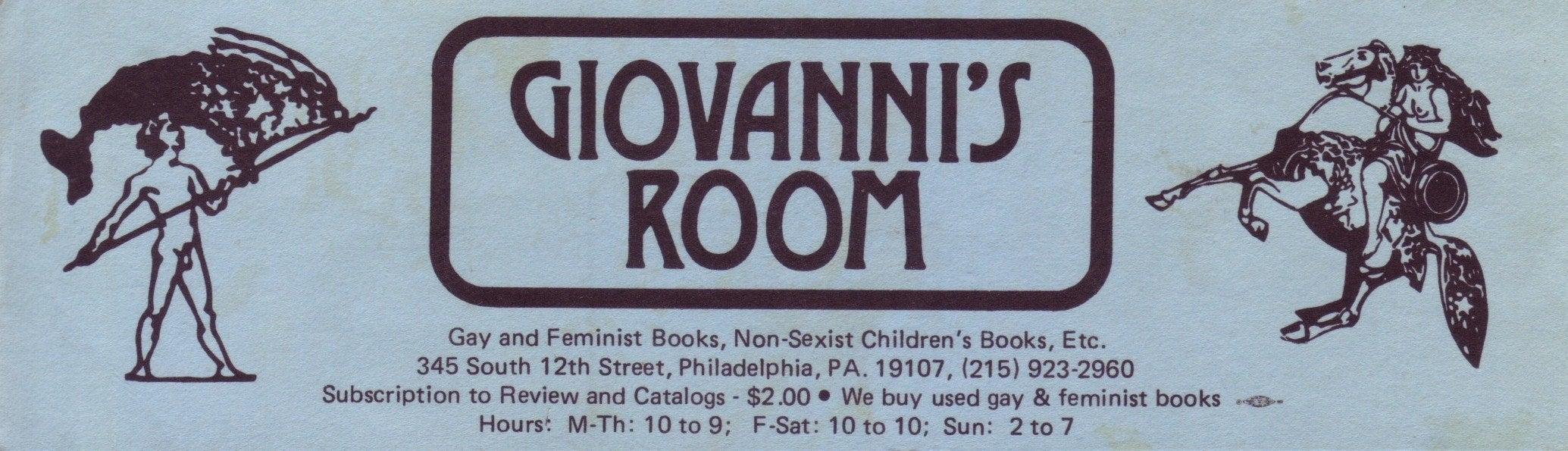 Giovanni's Room bookmark