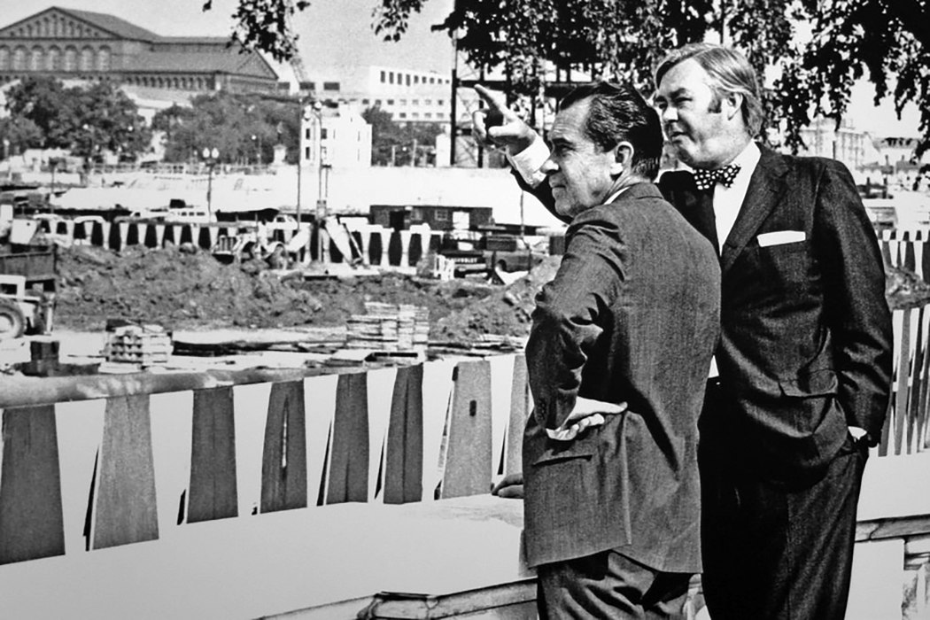 Nixon and Daniel Patrick Moynihan