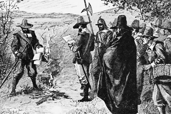 Puritan Book Burning