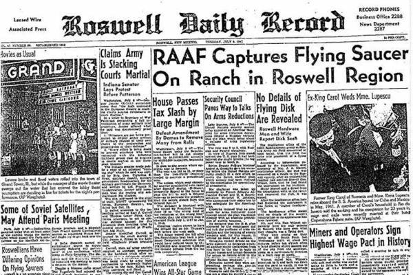 Roswell newspaper headline