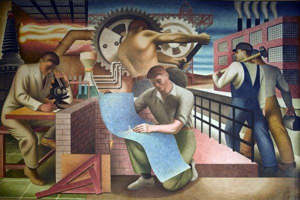 WPA mural masculinity