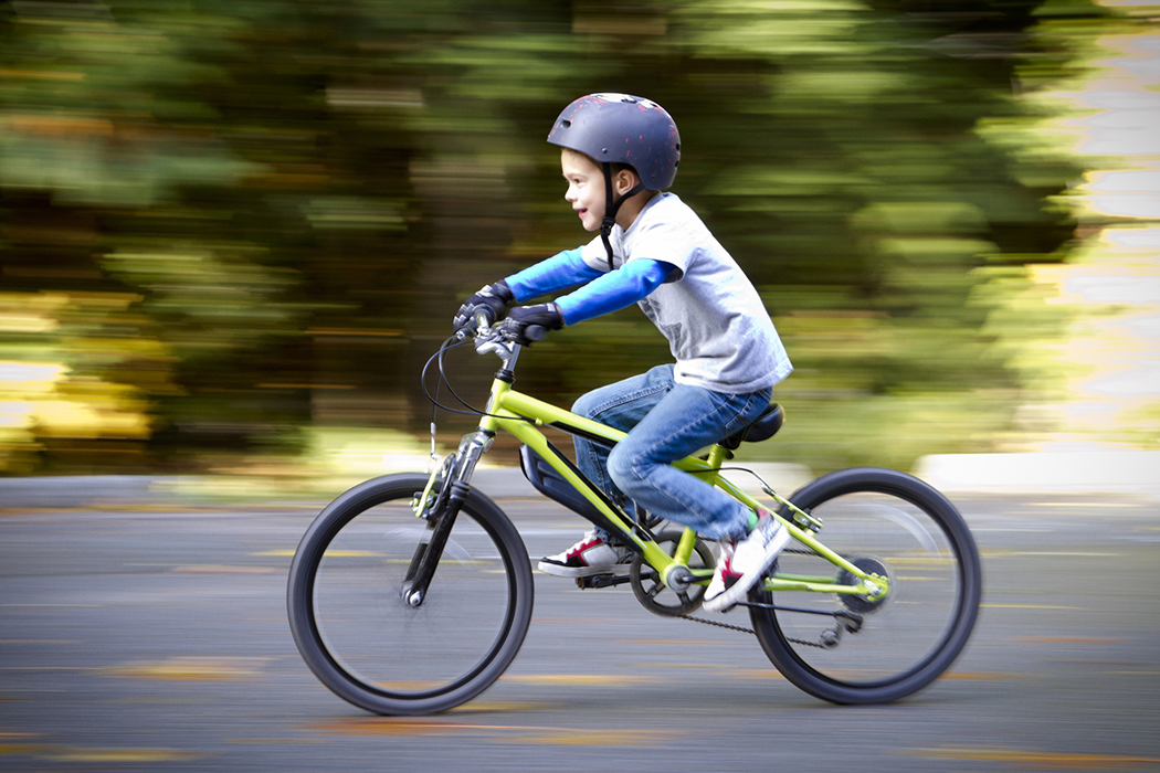 Boy biking