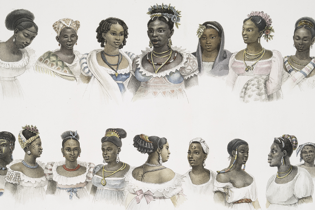 enslaved women illustration