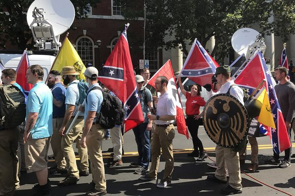 Unite the Right flags