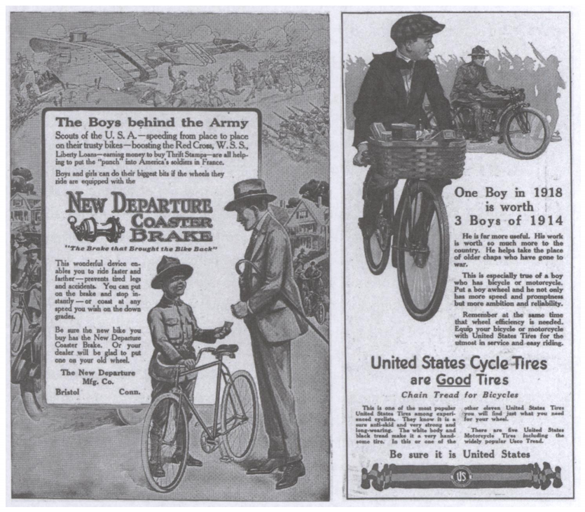 WWI bike ad