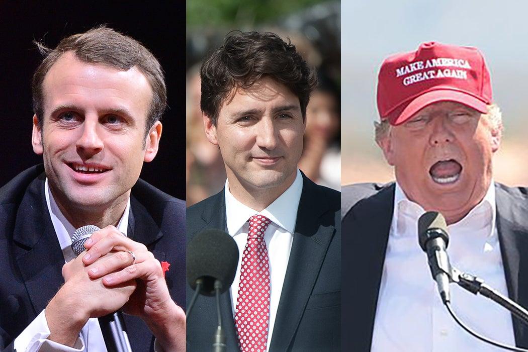 Macron, Trudeau, Trump