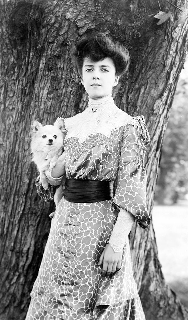 Alice Roosevelt with Dog