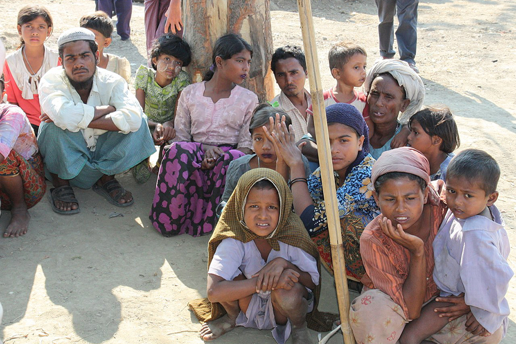 Displaced Rohingya people