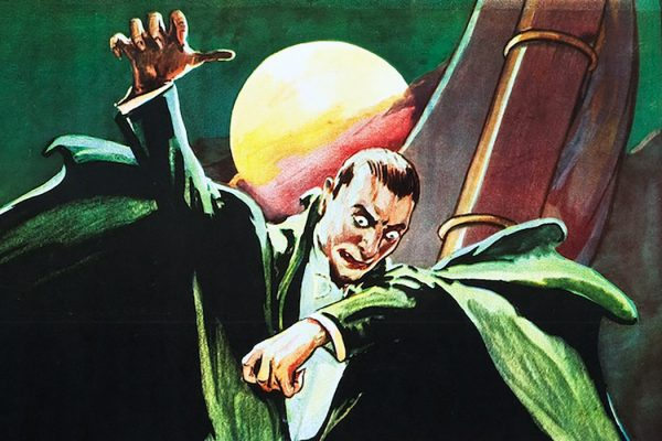 Dracula in a 1931 movie poster