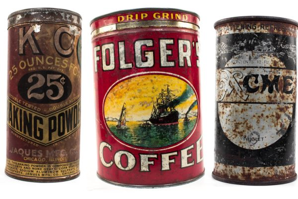 antique cans