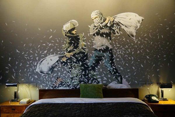 Banksy hotel room