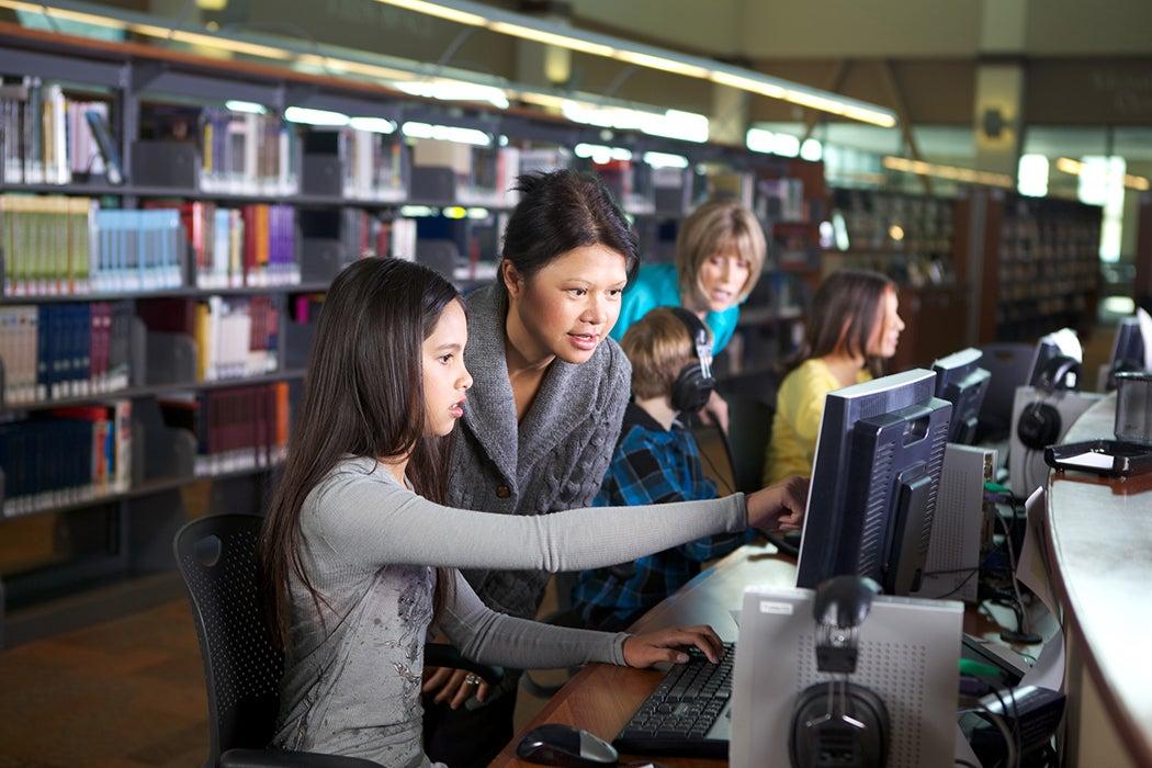 Librarian computer lab