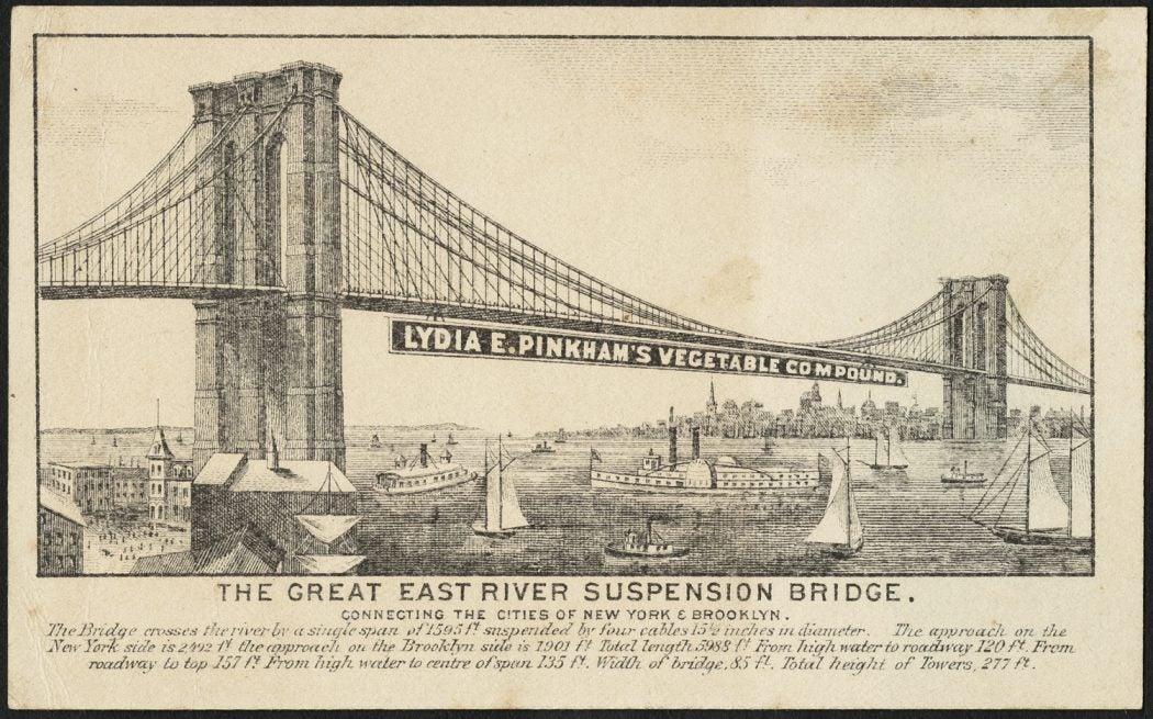 Pinkham bridge advertisement