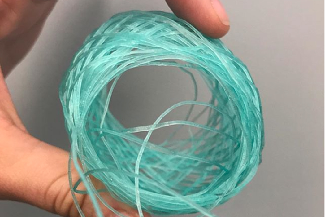 A biopolymer spool from Algiknit