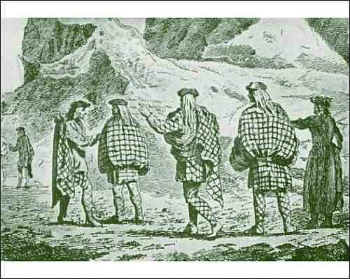 Scottish belted plaids