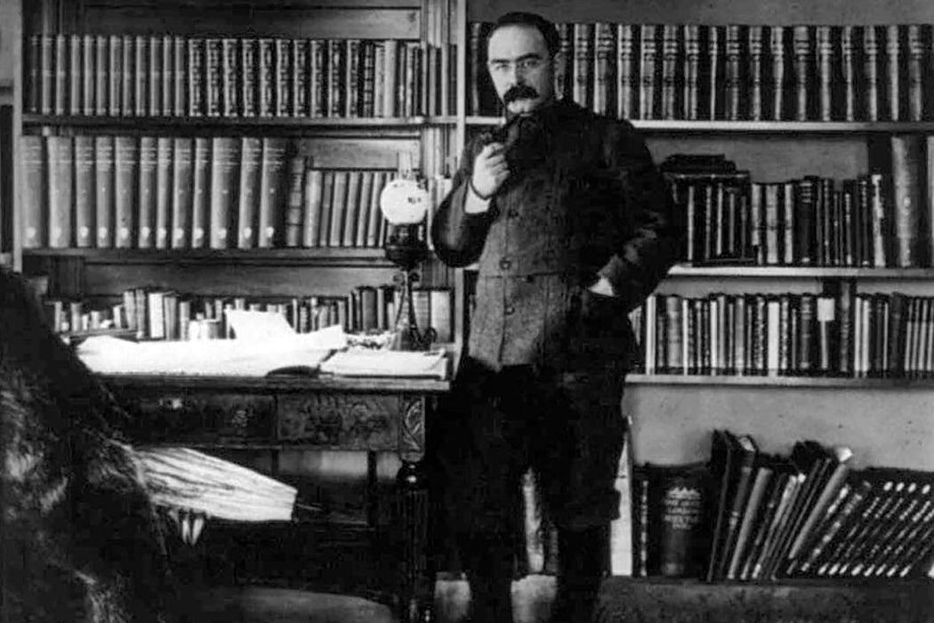 Kipling in study
