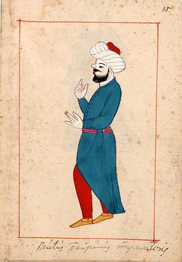 Ottoman court signer