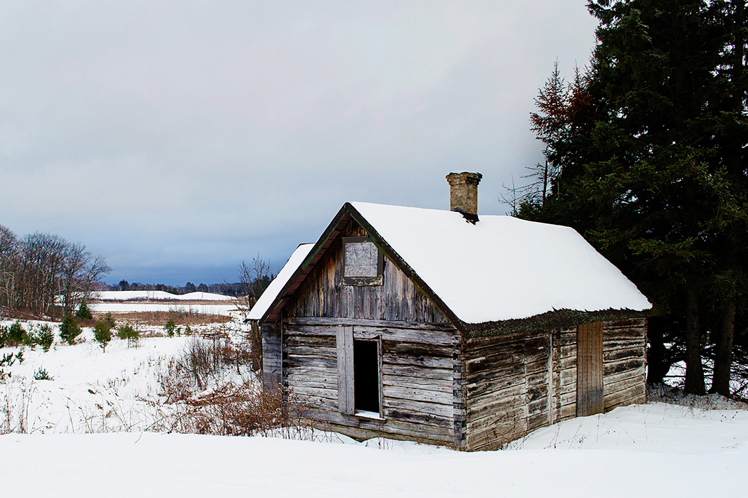 Winter Shack Landscape