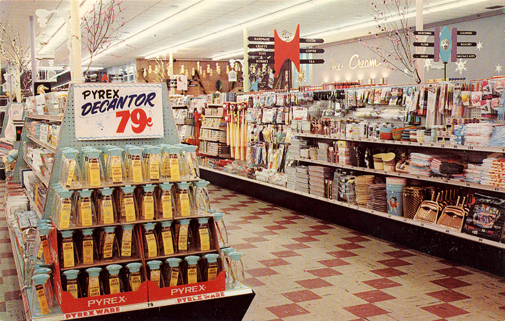 A vintage Piggly Wiggly grocery store interior