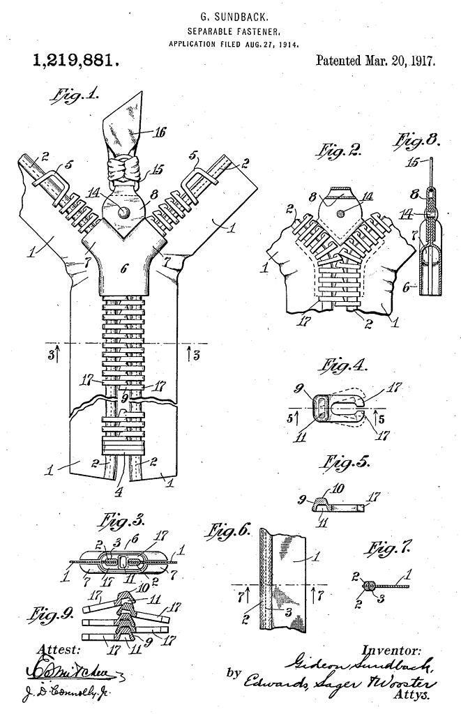 Zipper patent