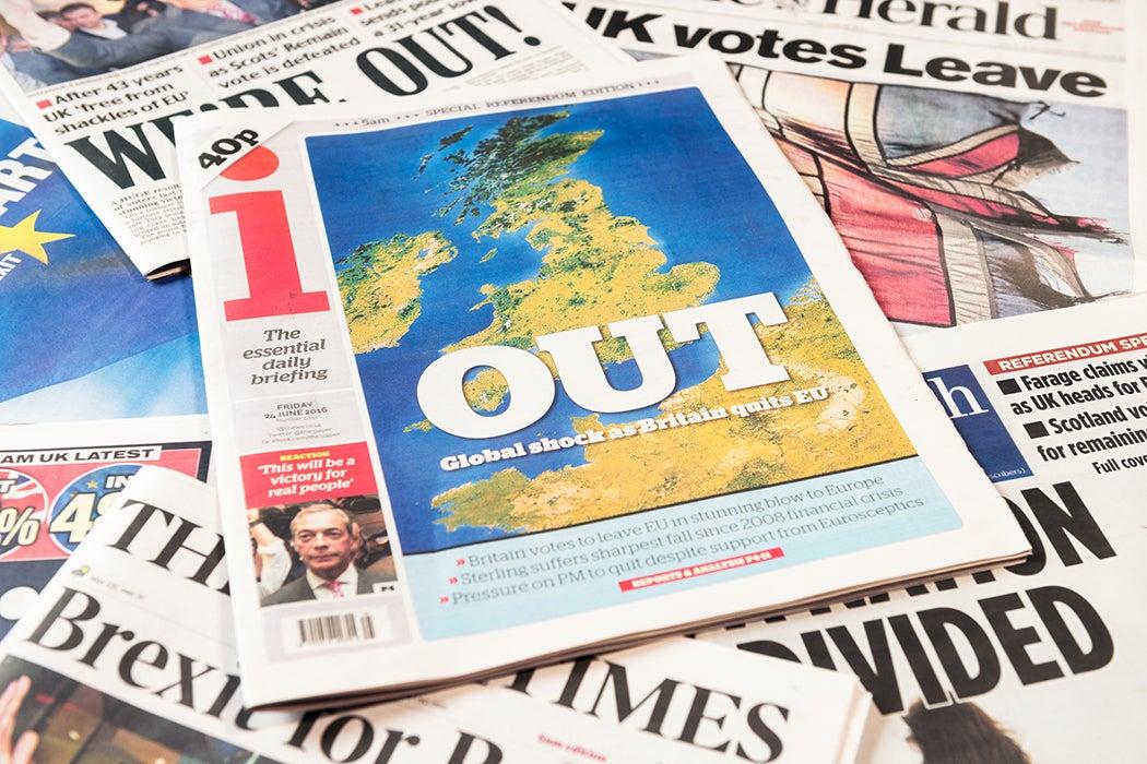 Brexit referendum headlines