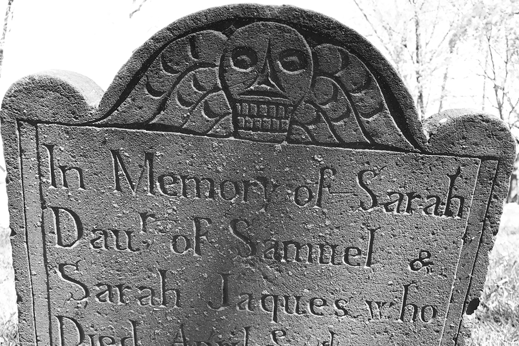 Colonial headstone