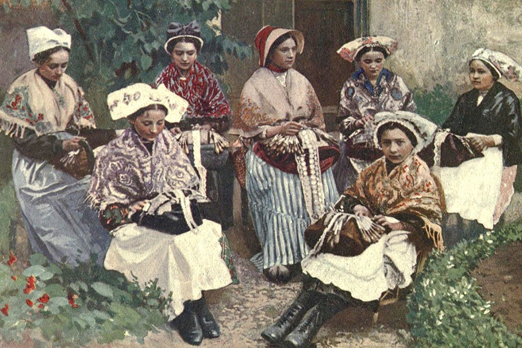 Victorian-era lacemakers