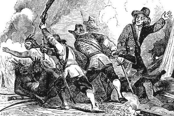 Pequot war engraving
