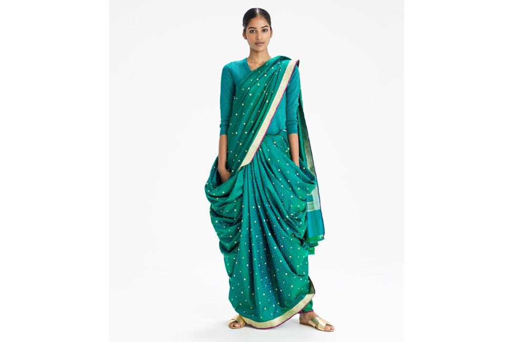 Sari drape