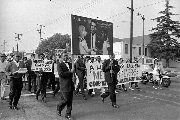 Megar Evers memorial march