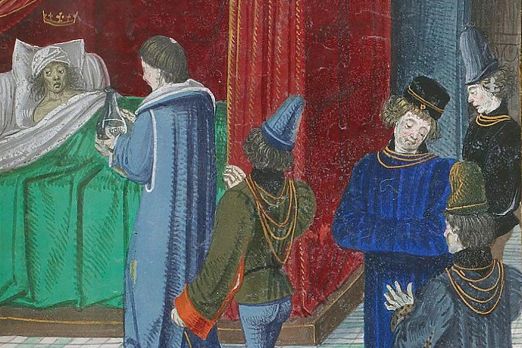 Bedridden King Charles VI