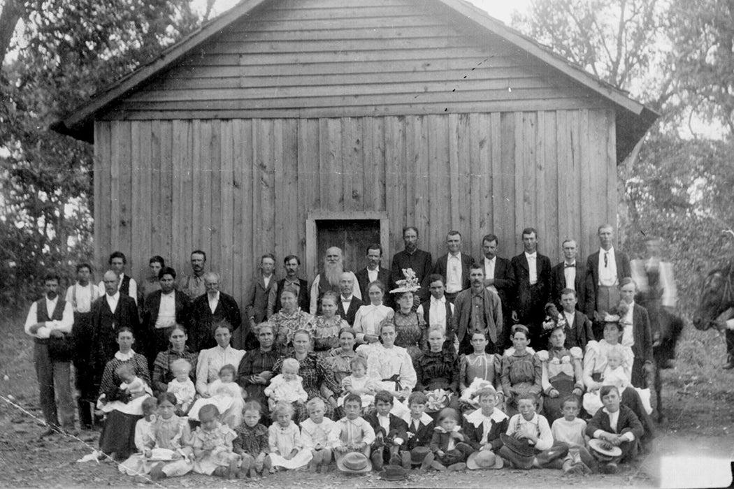 Oklahoma Sunday school class 1900