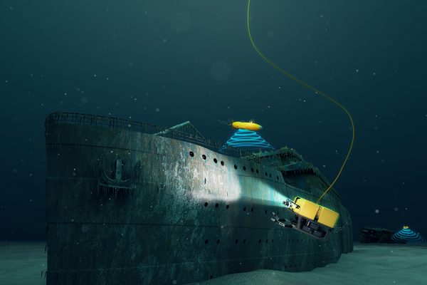 AUVs exploring the Titanic