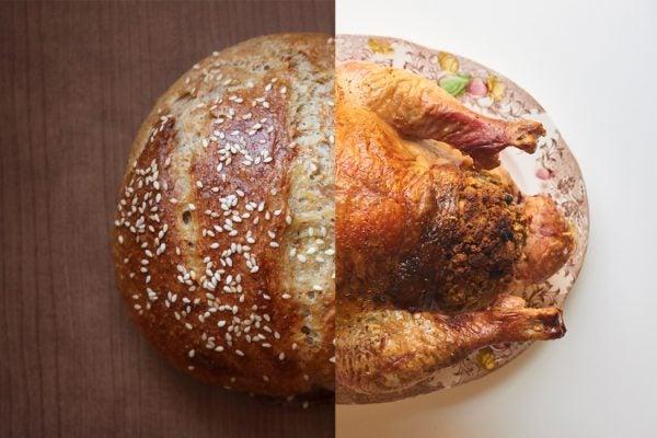 Bread Turkey roasted baked