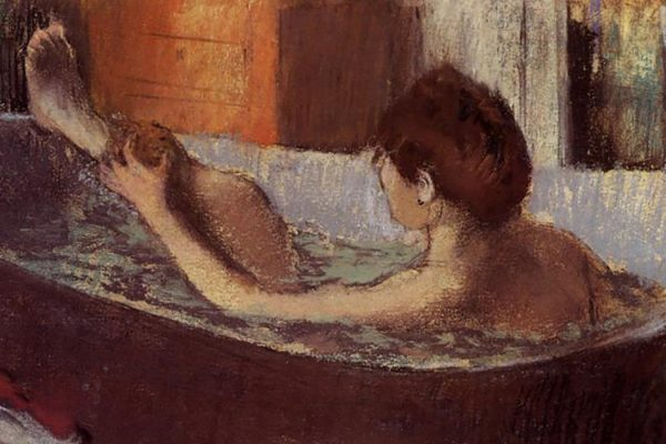Degas bather