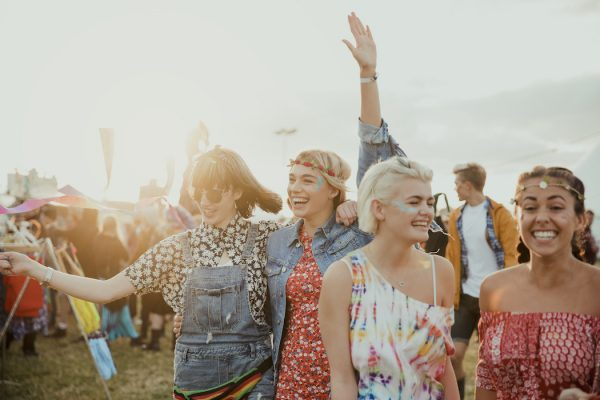 Enjoying a Music Festival