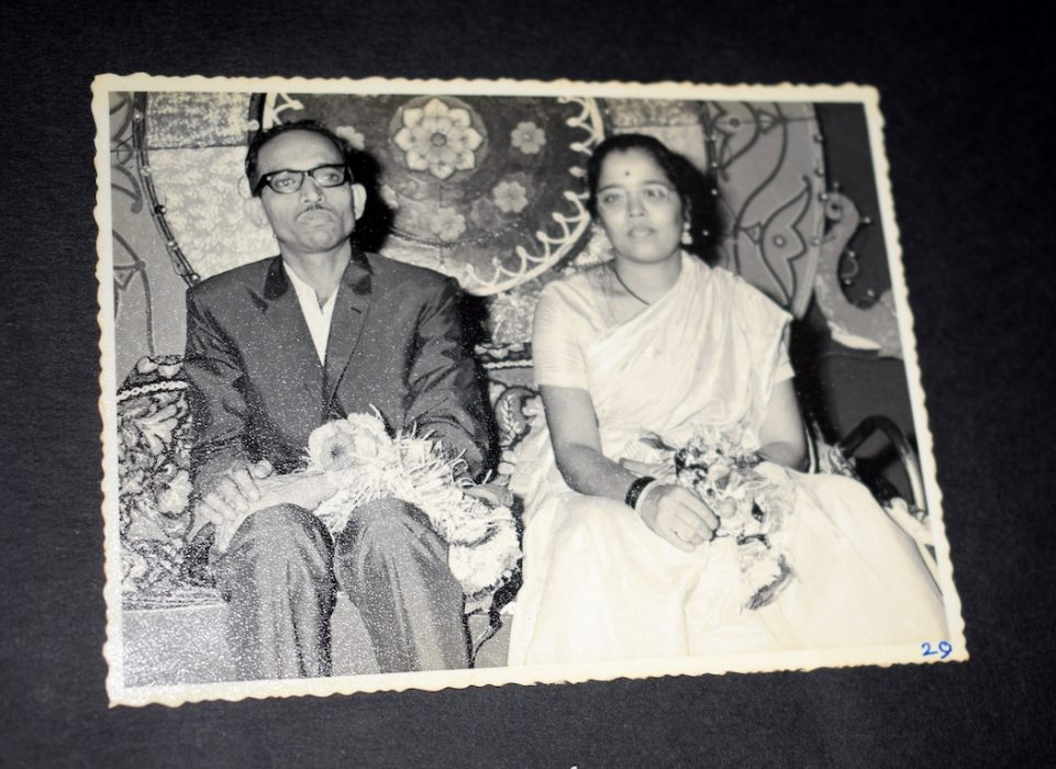 Narayan and Iravati Lavate at their wedding, 1968