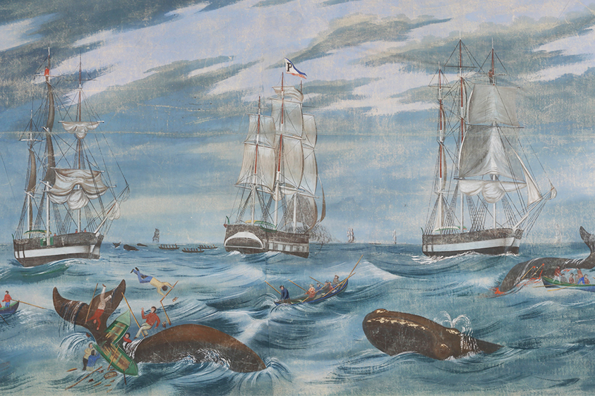 Whaling painting