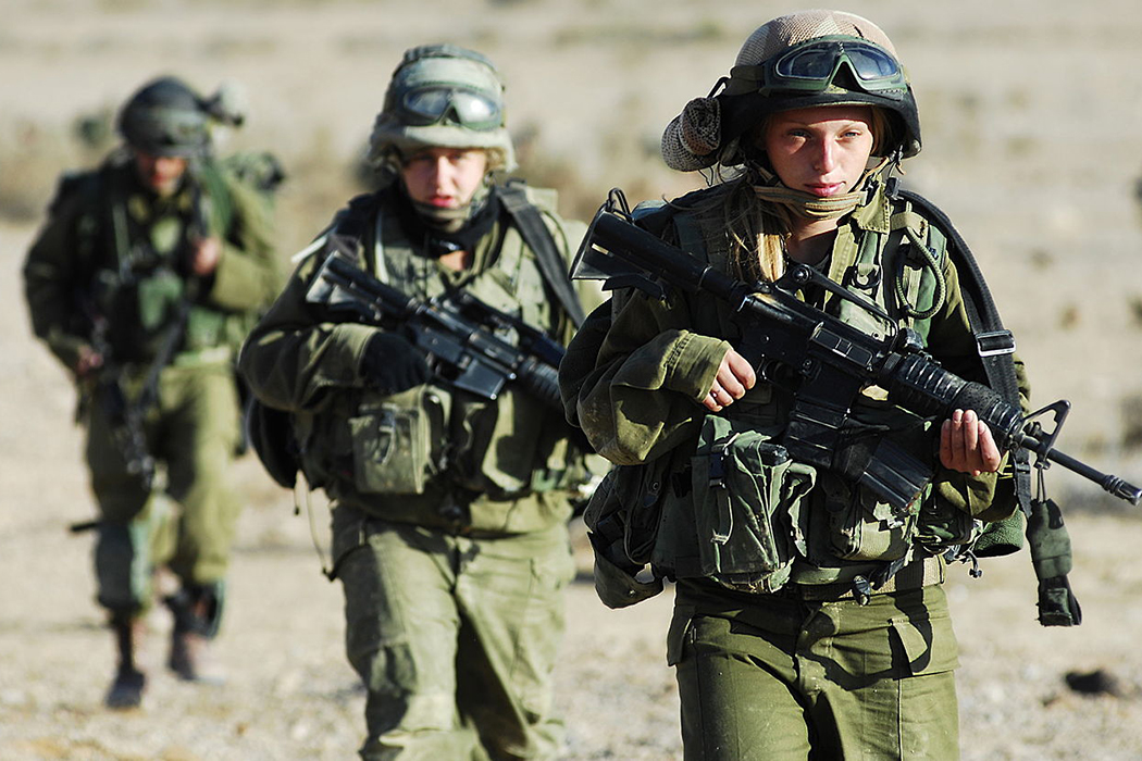 Soldiers training in the Israeli Defense Forces