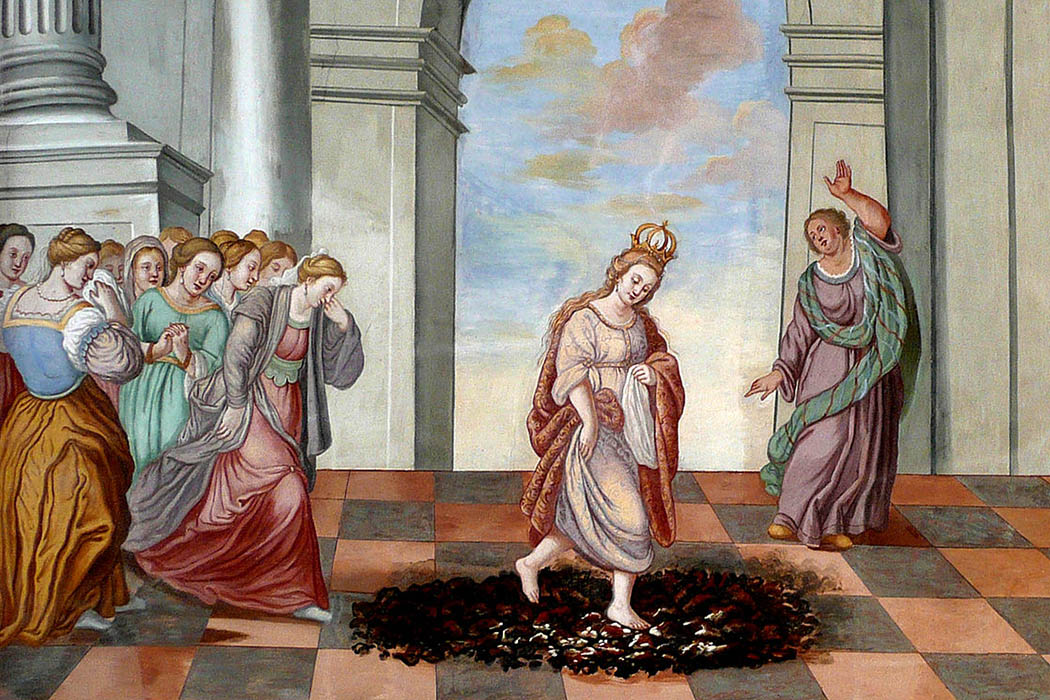 Image result for trial by the fire painting