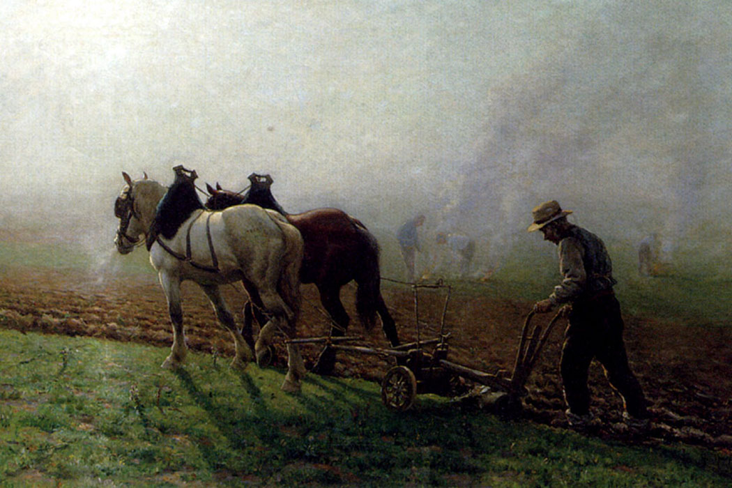 Ploughman painting