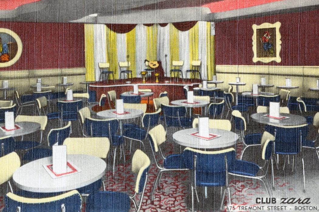 Club Zara Boston postcard
