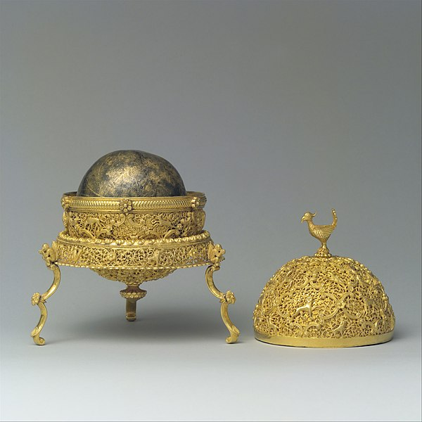 Goa Stone and container, probably from Goa, India, late 17th–early 18th century.